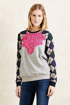 Anthropologie EU Chiffon Sleeve Sweatshirt