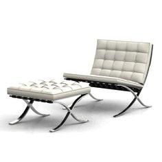 White Barcelona Chair