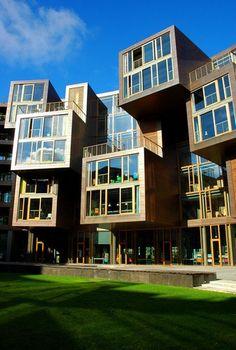 Tietgenkollegiet is a stunning circular student dormitory located in Orestad just outside of Copenhagen