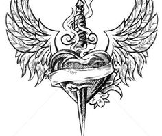 tattoos pics wing tattoos heart tattoos heart with wings tattoo heart . Native Tattoos, Eagle Tattoos, Black Ink Tattoos, Body Art Tattoos, Tattoo Drawings, Sleeve Tattoos, Wing Tattoos, Tatoo Heart, Heart With Wings Tattoo