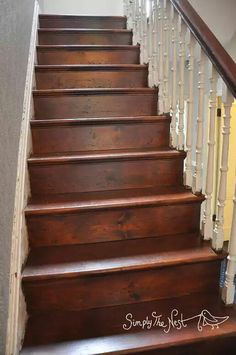 How to restore, sand and oil a Victorian wooden staircase. Wood stair stairs plank original repair refinish.