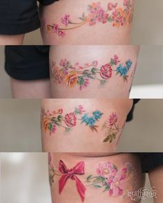 Flower band :-) - #타투 #그라피투 #타투이스트리버 #디자인 #그림 #디자인 #아트 #일러스트 #tattoo #graffittoo #tattooistRiver #design #painting #drawing #art #Korea #KoreaTattoo #flowerbandtattoo #꽃타투