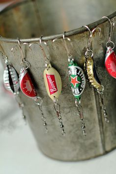 Bottle cap fishing lures {handmade christmas presents for me...