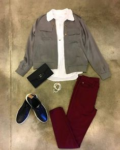 #ootd Run around in this Equipment blouse and bomber, Hudson Jeans bottoms and Vince slip ons- Perfect outfit for this weather! ☀️ #shopfayes #shoplocal #shopsmall #milwaukeefashion