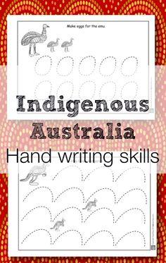 Indigenous Australia early handwriting activities. www,teachezy.com www.earlychildhoodteachezy.com