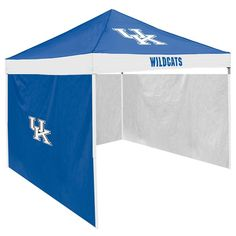 Kentucky Wildcats Ncaa 9' X 9' Economy 2 Logo Pop-up Canopy Tailgate Tent With Side Wall
