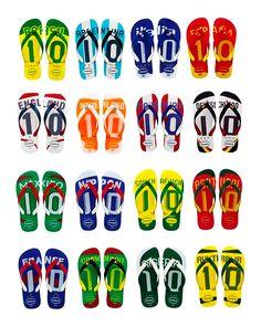 Flip it, flop it, flaunt it. World Cup flip flops. Soccer = the REAL Football.