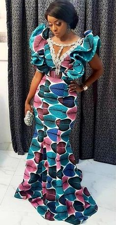 ng 🧚🧚🧚🧚🧚 Lace and Ankara dresses. from Diyanu - Ankara Dresses, Shirts & African Fashion Ankara, Latest African Fashion Dresses, Ghanaian Fashion, African Inspired Fashion, African Print Fashion, Africa Fashion, Lace Dress Styles, Ankara Gown Styles, Ankara Dress