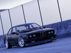 BMW E24 M6 black deep dish BBS slammed  want more? visit - http://themotolovers.com