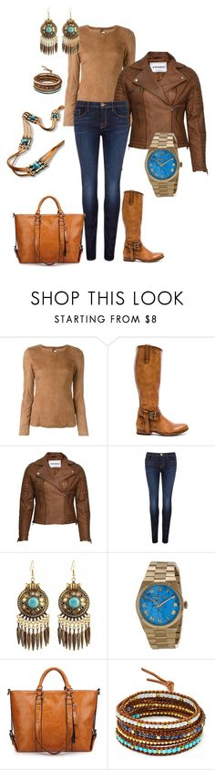 """Brown & Turquoise"" by tracy-kerr on Polyvore featuring Drome, Frye, VIPARO, J Brand, Michael Kors, Chan Luu and 3AM Imports"