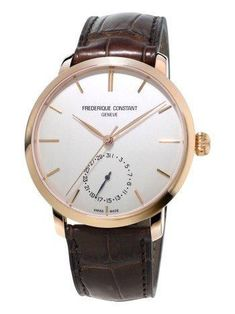 Priced between $2,795 and $3,095, theseFrederique Constant Manufacture Slimline watches won't break the bank.