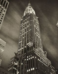 TOM BARIL. Chrysler Building at Night, NYC