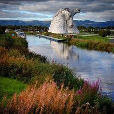 "VisitScotland (@visitscotland) on Instagram: ""@janpandrum visited The Kelpies on her trip to Scotland… have YOU been? #Kelpies #TheKelpies…"""