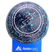 Aero Defiance lawn bowl in new Graphite color. Lightning logo.