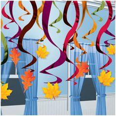 Fall Hanging Swirl Decorations- 30ct