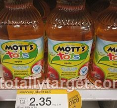 Rare New Coupon: $1/1 Mott's for Tots Apple Juice + Target Deal!