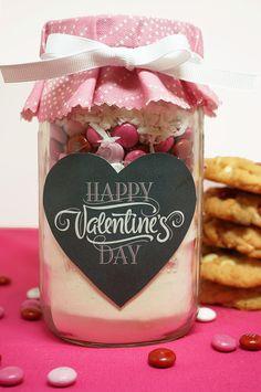 Mason Jar Valentine's Day Cookies Recipe