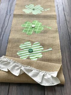 Items similar to St. Patrick's day decor, canvas table runner, four-leaf clover, emerald,… – St Patrick's Day Crafts DIY St Patricks Day Crafts For Kids, St Patrick's Day Crafts, St Patrick's Day Decorations, Burlap Table Runners, Burlap Pillows, St Paddys Day, Happy St Patricks Day, Craft Night, Four Leaf Clover