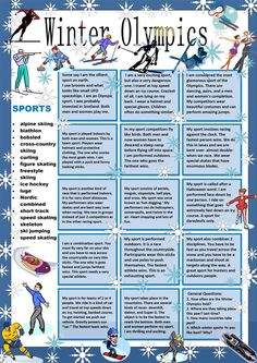 Winter Olympics:Guess My Sport