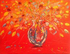 Vase of flowers, inspired by Satu Vartiainen. Sold