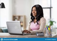 Happy Women, Home Office, African, Stock Photos, People, Inspiration, Image, Beautiful, Biblical Inspiration