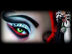 cruella makeup | Halloween 2013 Cruella De Vil - Make Up Tutorial (Crudelia De Mon ...