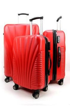 Details about Hard Shell 4 Wheel Spinner Suitcase ABS Luggage ...