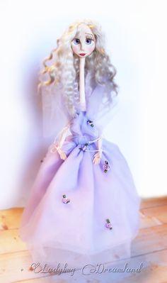 "Violet ""The Good Fairy"" OOAK Jointed Art Doll Ladybug Dreamland. via Etsy."