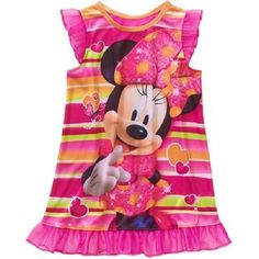 Girls Disney Minnie Mouse Nightgown/Pajama Dress BNWT Size 5T ~ Adorable!! #Disney #Nightgown