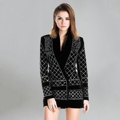 Rockefeller Studded Velvet Blazer Dress