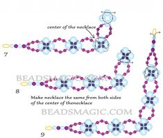 Free pattern for necklace Fary Dance | Beads Magic
