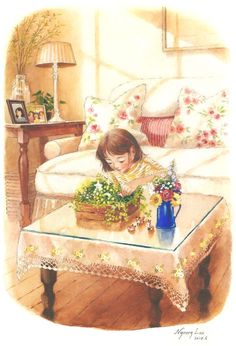 Asian Wallpaper, Fairy Wallpaper, Anime Flower, Disney Fan Art, Cute Illustration, Anime Art Girl, Aesthetic Art, Cute Art, Amazing Art