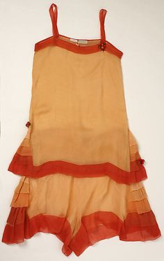 Lingerie Set, 1920s, silk, The Metropolitan Museum of Art