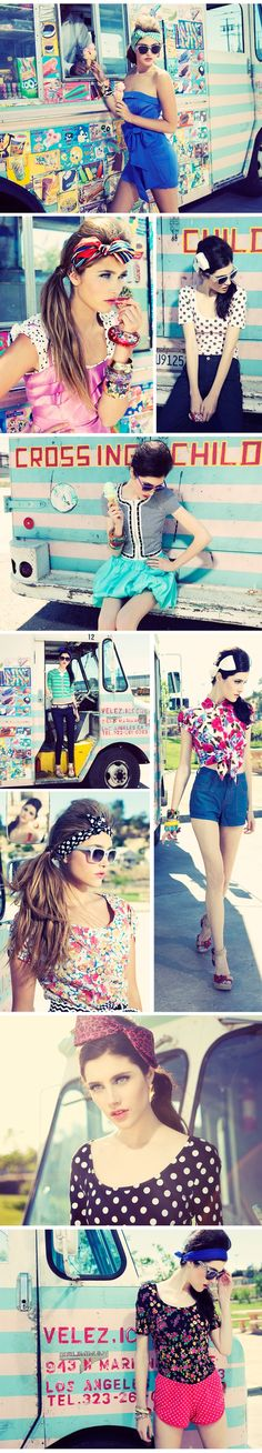 All of this...except the red polka dot shorts. PLUS, the photog set up is ADORBS! :D