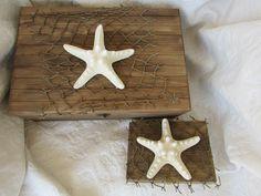 #nauticalwedding #cardbox #ringbox from my Etsy shop https://www.etsy.com/listing/244880435/rustic-stained-aged-nautical-beach-card