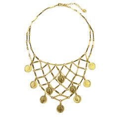 Moroccan Coin Chandelier Collar Necklace