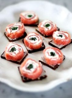 From Leila Lindholm's blog, Scandi Salmon Rolls