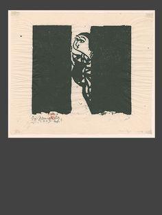 The Art of Japan - The Night Visit - Shiko Munakata - Japanese   www.theartofjapan.com