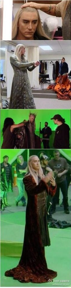 Lee Pace behind the scenes
