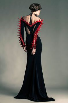 #Goth #horror inspired Jean Louis Sabaji - Couture - Spring-summer 2013