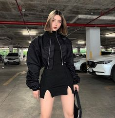 Edgy Outfits, Teen Fashion Outfits, Korean Outfits, Mode Outfits, Cute Casual Outfits, Pretty Outfits, Girl Outfits, Korean Girl Fashion, Ulzzang Fashion