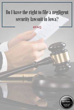 The right to file a lawsuit is also known as standing to sue. You either have standing to sue according to Iowa state law or you do not have it. Learn more about whether you have standing to file a lawsuit - click through for more info.