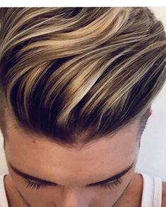 Men hair highlight
