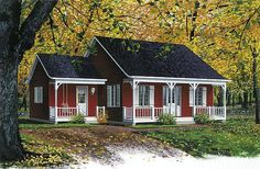 Inland Cottage 2 1390 - 2 Bedrooms and 1.5 Baths | The House Designers