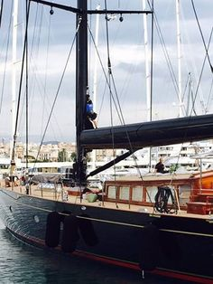 At No.3 in the #top5 projects of 2016, we have the project we completed on one of our favourite sailing yachts, the Vitters Shipyard built The Superyacht Cup winner, #sailingyacht Marie. Our world famous varnish team have worked with Marie for many years, and each time she has been back to Palma for her works.