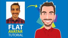 Adobe Illustrator CC 2017 tutorial: How to design a Flat Avatar with det...