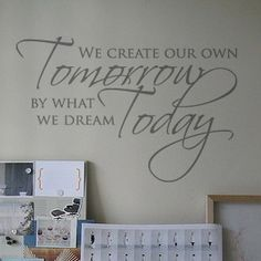 Dream Come True Wall Art Quote Home Sticker Vinyl Decal Room Decor Kid  Removable | eBay | Decor | Pinterest | Quotes home, Vinyls and Wall art  quotes