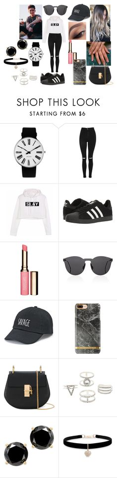 """Fall Park Date With Daniel Seavey"" by roxy-crushlings on Polyvore featuring Rosendahl, Topshop, adidas, Clarins, Illesteva, SO, Chloé, Charlotte Russe, Betsey Johnson and DanielSeavey"