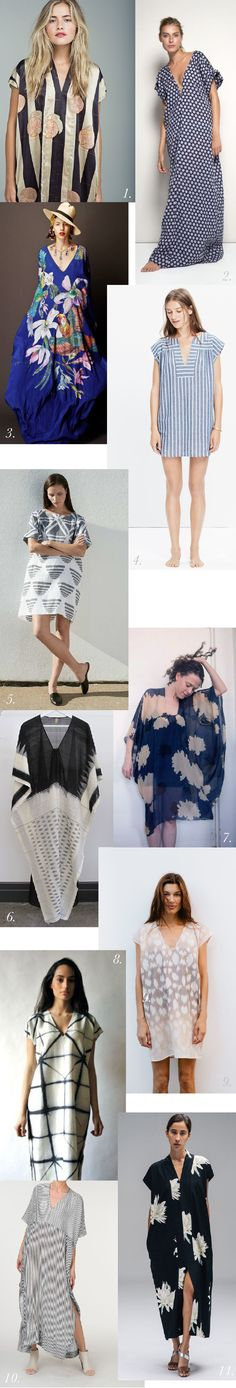 Gorgeous inspiration to wear and style a stylish caftan dress or kaftan dress using our best-selling Charlie Caftan pattern.