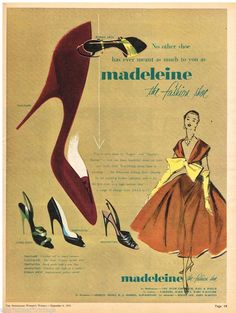 MADELEINE AD RETRO SHOES FASHION AUSTRALIAN Vintage Advertising 1954 Original Ad in Collectables, Advertising, Print Advertising | eBay